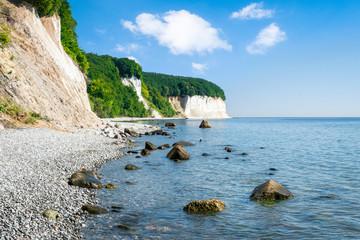 Chalk cliff at the Jasmund National Park on the island of Rügen, Mecklenburg-Vorpommern, Germany