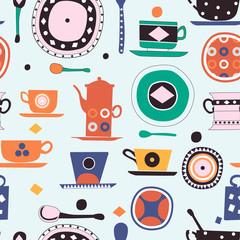 kitchen pattern seamless design graphic