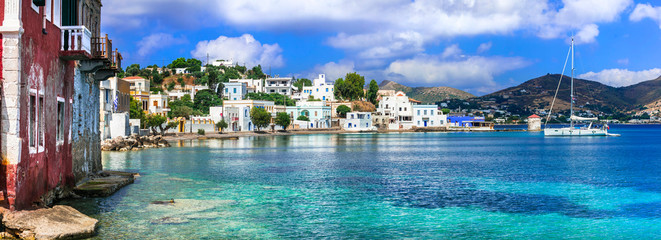 Traditional authentic Greece - beautiful island Leros in Dodecanese