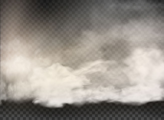 set of vector clouds and sun on transparent background