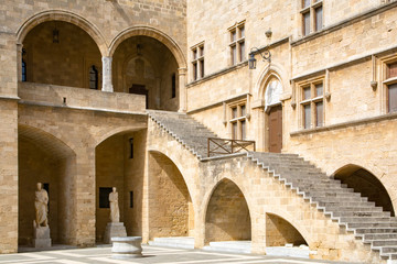 Palace of the Grand Master court, Rhodes Island, Greece