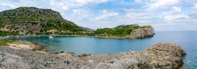 View of Ladiko bay, Rhodes Island, Greece