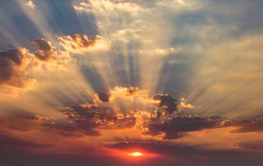 Spectacular Autumn Sunset, Incredible Clouds