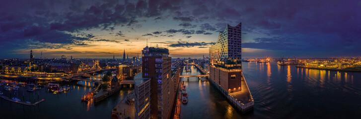 Hamburg Skyline erwacht