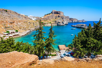 Akropol w Lindos i plaża, Rodos