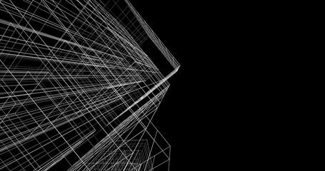 architecture 3d illustration
