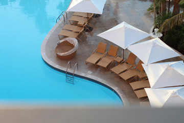 Relaxing Vacation Hotel Pool Deck