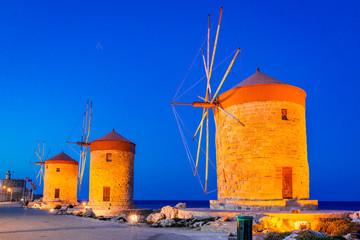 Mandraki Harbor in Rhodes, Greece