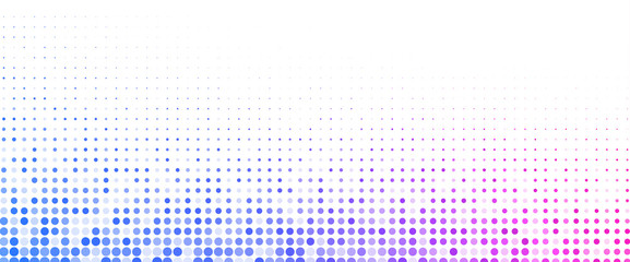 White horizontal background with color dotted pattern.