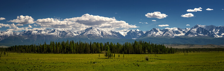 the panorama of the Chui ridge Altai, Russia, June