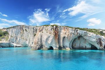 Błękitne jaskinie na wyspie Zakynthos - Grecja