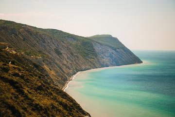 mountain cliff sea