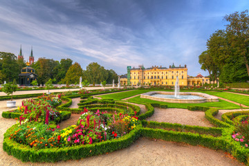 Beautiful gardens of the Branicki Palace in Bialystok, Poland