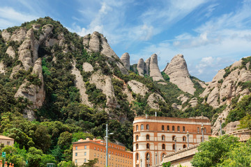 monastery in the mountains of Montserrat
