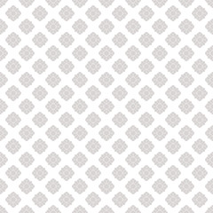 Silver flowers seamless pattern. Subtle vector ornamental geometric texture