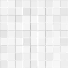 Abstract seamless pattern of white ceramic wall tiles.Design geometric mosaic texture for the decoration of the kitchen room, vector illustration