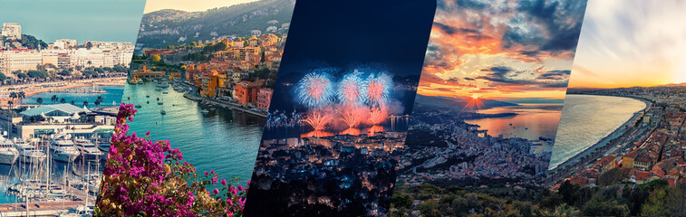 French Riviera photos collage.