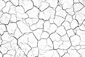 Dry cracked soil texture, background barren of drought lack of water of nature white.