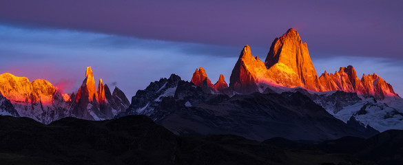 Argentina, Patagonia, Sunrise, colorful