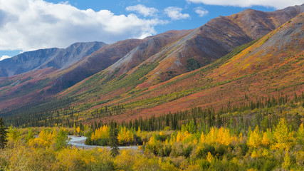 USA, Alaska, Brooks Range. Mountain landscape with stream. Credit as: Don Paulson / Jaynes Gallery / DanitaDelimont.com