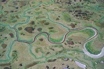 North America, USA, Alaska, ANWR. Tundra landscape on north slope of ANWR