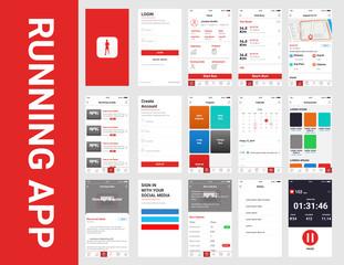 Mobile app ui kit running app template