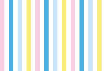 background of pastel colored stripes in pink, blue yellow and white