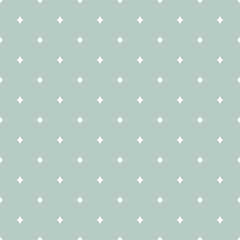 Vector Abstract Magical Rhombus in Dusty Green seamless pattern background.