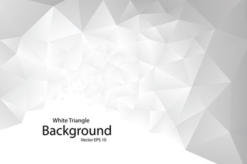 White Geometric Triangle Background