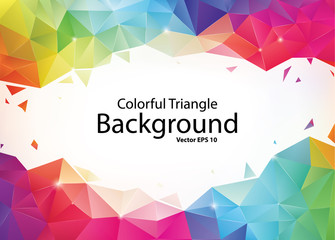 Colorful Geometric Triangle Background