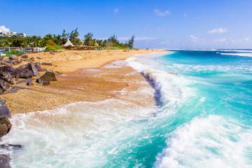 beach and sea, Saint-Gilles, Réunion Island