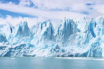 Beautiful shot of icebergs in glacier Perito Moreno, in Patagonia, Argentina