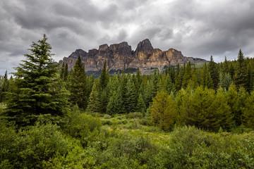 Castle Mountain of Banff National Park Alberta Canada