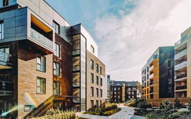 EU Modern european complex of residential apartment buildings