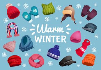 Warm Clothing Winter Background