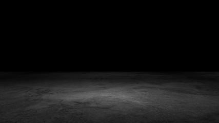 Black Background Floor Dramatic Product Scene Concrete Texture