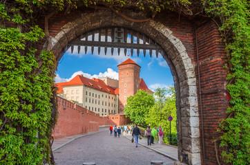 Piękny zamek na Wawelu w Krakowie Polska.