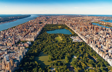 Aerial view of Manhattan, NY and Central Park
