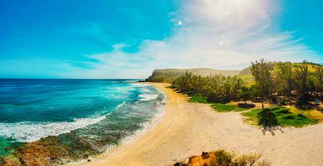 Boucan Canot Beach at Reunion Island - Touristic site