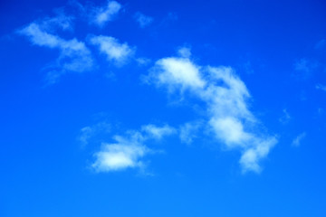 autumn blue sky with clouds