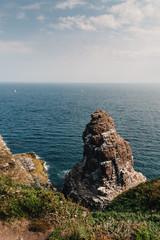 Scenic view of Cap Frehel area in Brittany