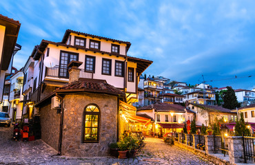 Traditional houses in Ohrid, North Macedonia