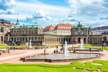 Architecture of Dresdner Zwinger, Dresden, Germany
