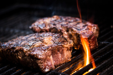Barbecue ancho steak. Ancho steak on the barbecue.