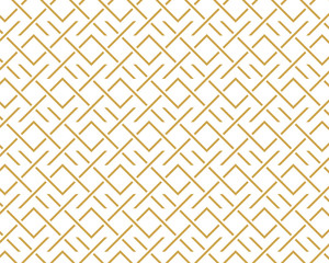 geometric pattern abstract white and gold tone vector background, line overlapping with modern concept