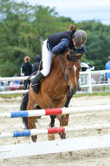 chute à cheval