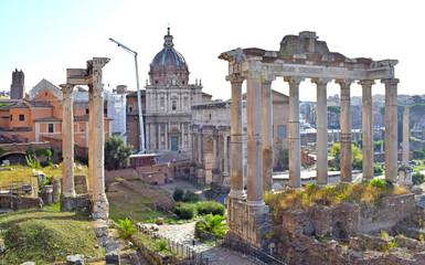 Foro de oradores y Templo de Castor, Foro Romano en Roma