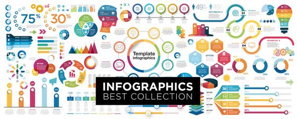 Vector mega set of infographic elements
