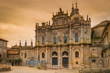 Santiago de Compostela cathedral in the early evening, Spain