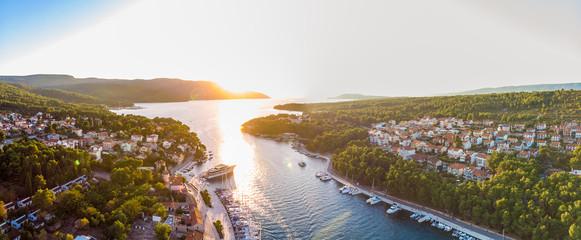 Widok z lotu ptaka Stari Grad na Chorwacji